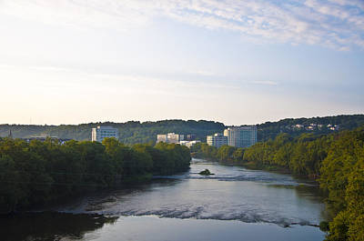 Conshohocken Along The Schuylkill River Art Print