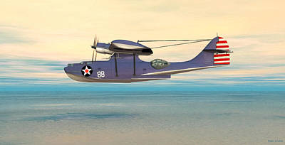 Consolidated Pby Catalina Art Print by Walter Colvin