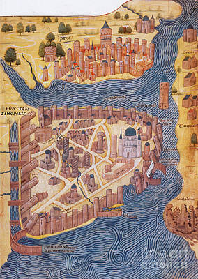 Constantinople, 1485 Art Print by Photo Researchers