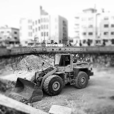 Truck Photograph - #constraction #blackandwhite #bnw #bw by Abdelrahman Alawwad