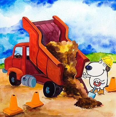 Construction Dogs 4 Art Print by Scott Nelson