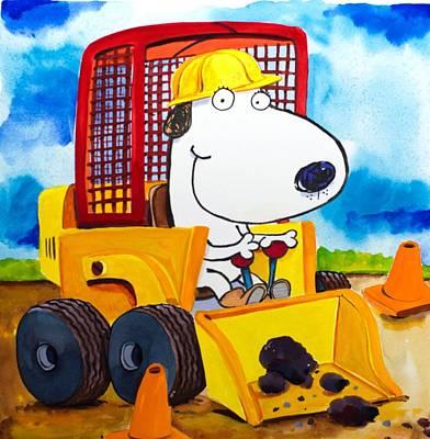 Construction Dogs Art Print by Scott Nelson