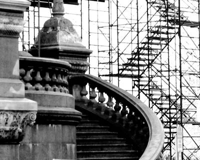 Photograph - Construction On The State Capitol by Jessica J Murray