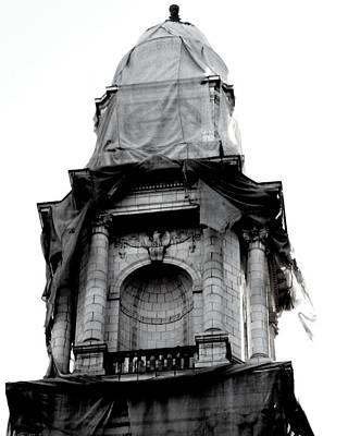 Photograph - Construction Tarp by Jessica J Murray
