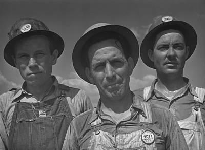 Construction Workers At Watts Bar Dam Art Print by Everett