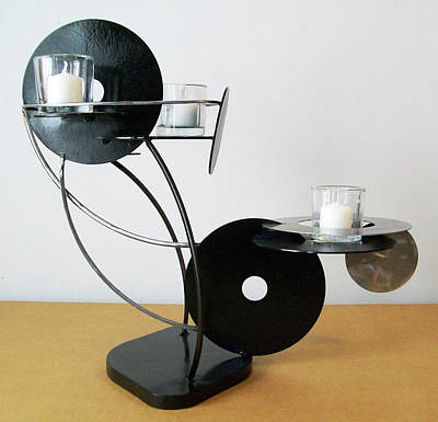Sculpture - Constructivist Candle Holder Model A by John Gibbs