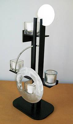 Sculpture - Constructivist Candle Holder Model B V2 by John Gibbs