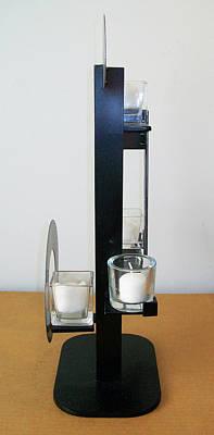 Sculpture - Constructivist Candle Holder Model B V3 by John Gibbs