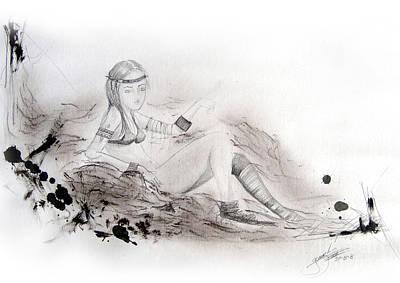 Hada Drawing - Consuelo by Guillermo Padilla