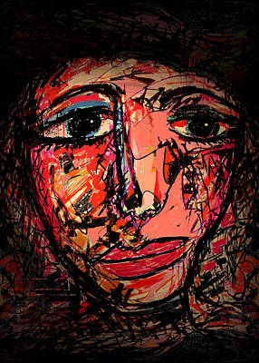 Abstract Expressionism Drawing - Contemplating by Natalie Holland