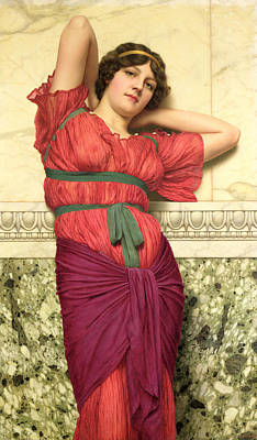 Contemplation Print by John William Godward