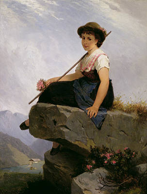 Julius Painting - Contemplation by Robert Julius Beyschlag