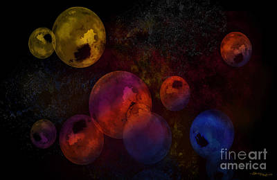 Mayfield Mixed Media - Contemporary Balls  by Christine Mayfield