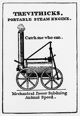 Contemporary Poster For First Passenger Locomotive Art Print