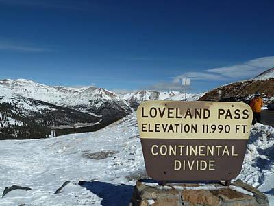 Wall Art - Digital Art - Continental Divide Loveland Pass by Bill Kennedy