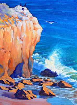 Malibu Painting - Continuous Sculpting Study by Elena Roche