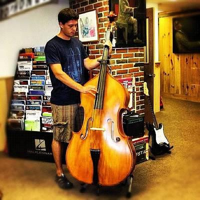 String Instruments Photograph - #contrabass #bass #doublebass by Alon Ben Levy