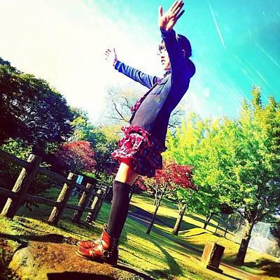 Pop Art Wall Art - Photograph - 飛行機!!#contrail #sisters by Inokoshi Masumi
