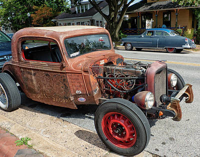 Bellefonte Wall Art - Photograph - Contrasting Cars by Lois Johnson