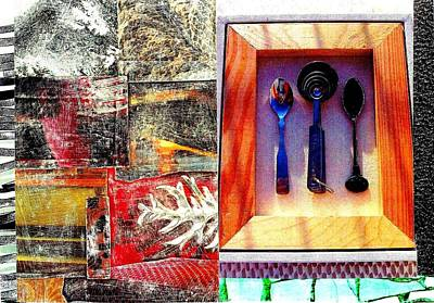 Digital Art - Contrasting Spoons by Jann Sage