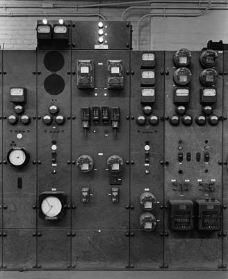 Control Panels Of The Detroit Edison Art Print by Everett