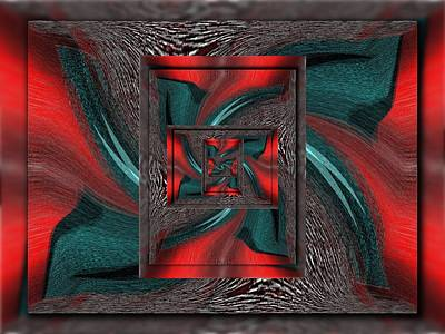 Digital Art - Convergence 2 by Tim Allen