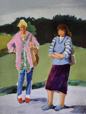 Painting - Conversation In Gdansk by Diane Ursin