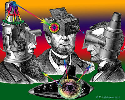 Digital Art - Conversation Of Sight by Eric Edelman