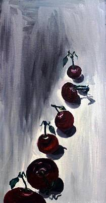Painting - Conversation With Cherries  by Leslye Miller