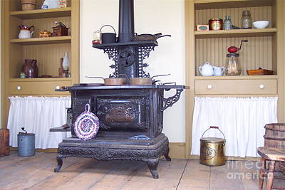 Antique Wood Burning Stove Photograph - Cook Stove by Nancy Patterson