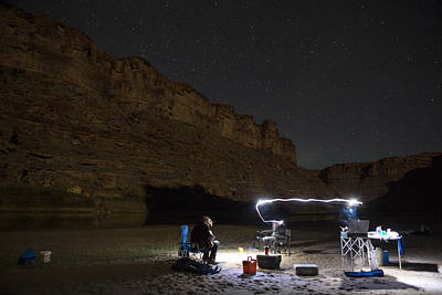 Cooking Under The Stars Art Print by Tim Grams