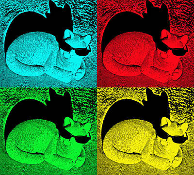Photograph - Cool Cat Pop Art by Aimee L Maher Photography and Art Visit ALMGallerydotcom