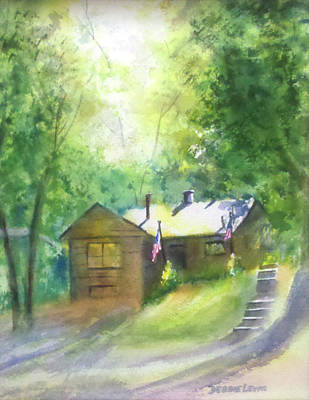 Painting - Cool Colorado Cabin by Debbie Lewis