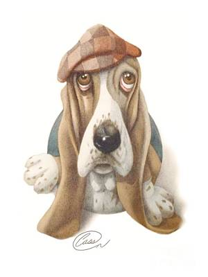 Dog Caricature Painting - Cool Is As Cool Does by Albert Casson