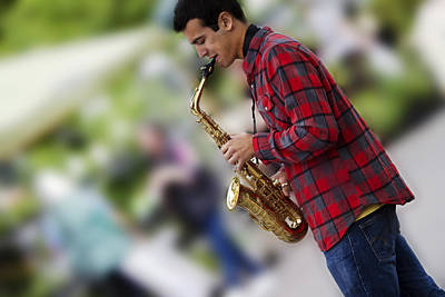 Sax Photograph - Cool Jazz by Rebecca Cozart
