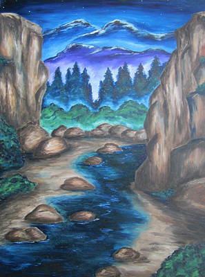 Art Print featuring the painting Cool Mountain Water by Cheryl Pettigrew