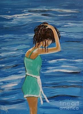 Painting - Cool Ocean Breeze by Leslie Allen
