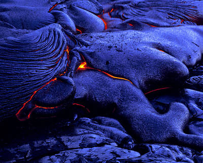 Cooling Lava Flow Art Print by G. Brad Lewis