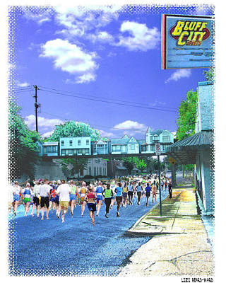 Digital Art - Cooper Young Festival Race Poster 2009  by Lizi Beard-Ward