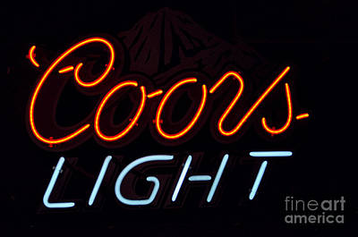 Coors Light Print by Juls Adams