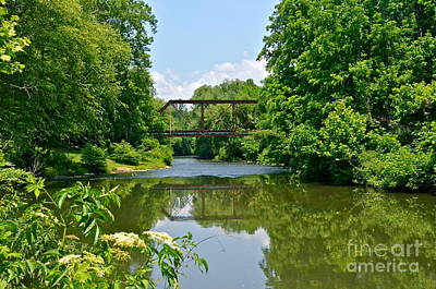 Photograph - Coosawattee River Railroad Bridge by Carol  Bradley