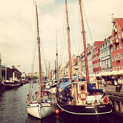Landscapes Wall Art - Photograph - Copenaghen - Nyhavn by Luisa Azzolini
