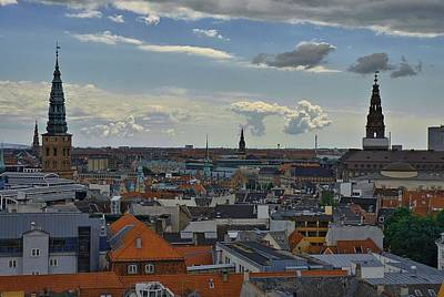 Photograph - Copenhagen Rooftops by Steven Richman