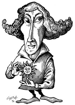 Copernicus, Caricature Print by Gary Brown