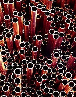 Photograph - Copper Pipes. by Juan Carlos Ferro Duque