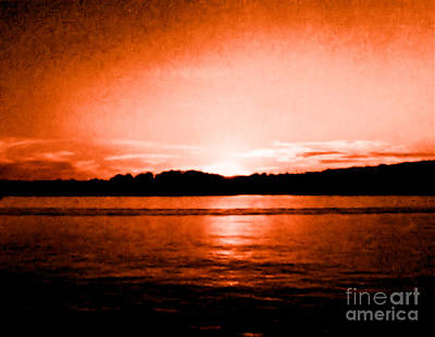 Histogram Photograph - Copper Sunset by Marsha Heiken