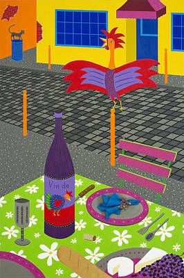 Coq Au Vin Art Print by Kort Duce