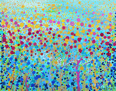 Print featuring the painting Coral Symphony by Stacey Zimmerman