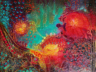 Art Print featuring the painting Coral World by Lolita Bronzini