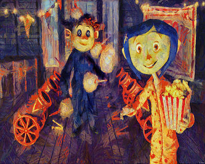 Painting - Coraline Circus by Joe Misrasi
